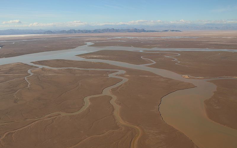 The Colorado River delta spread across the a part of the Southwest.